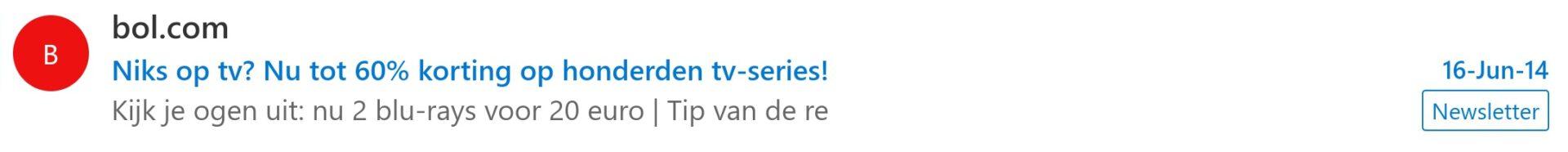 e-mail voorbeeld bol tv