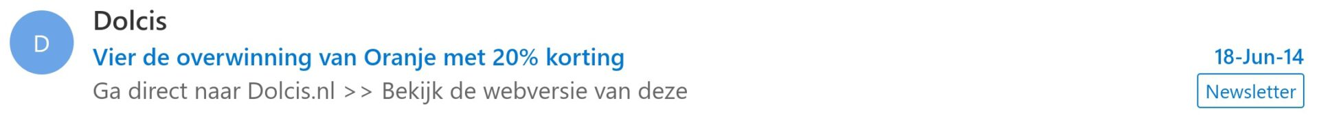 e-mail voorbeeld dolcis