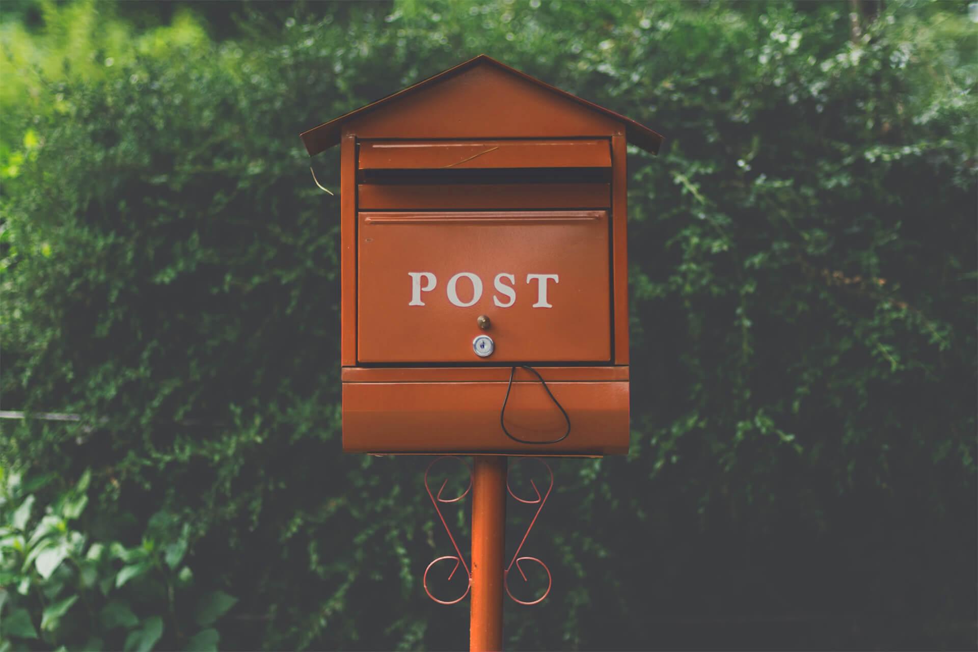 oranje brievenbus